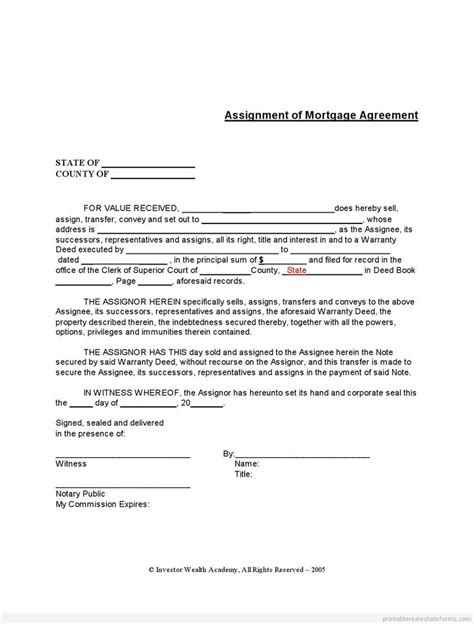 assignment of mortgage template 866 best images about template pdf file on