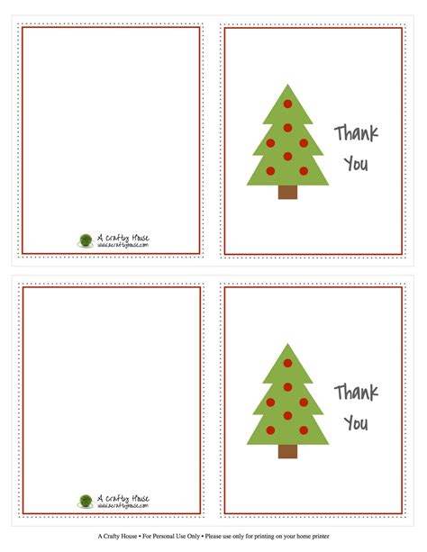 Thank You Card Template With Tree by Thank You Card Template Best Template Idea