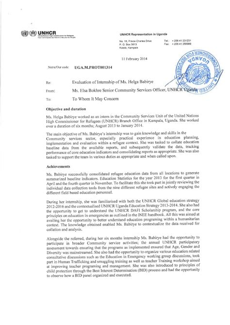 Photo Attestation Letter 2014 internship attestation letter helga babirye