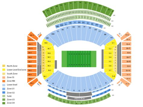 alabama football stadium seating chart bryant denny stadium seating chart and tickets formerly