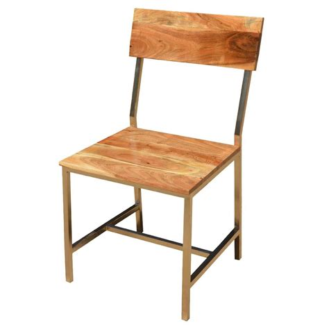 solid wood iron rustic dining chair set of 2