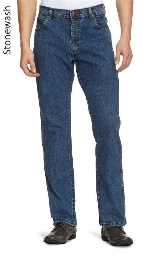 Wakai Blue Denim 39 43 wrangler stretch regular fit new mens black