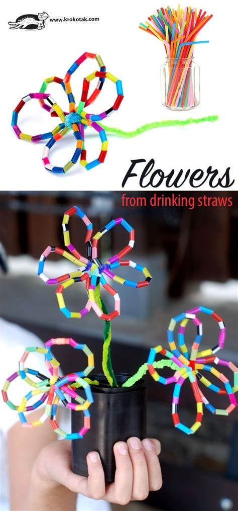 Craft Work Paper Flowers - 25 unique straw crafts ideas on