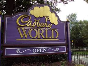 Image result for cadbury world sign
