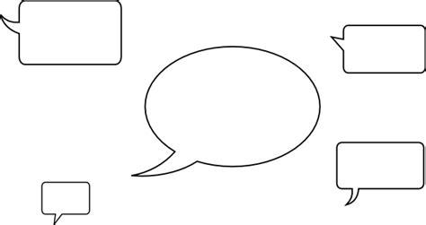 speech balloon template oval speech clip at clker vector clip