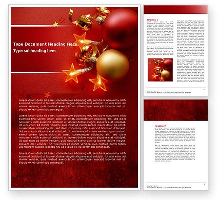 microsoft templates for word christmas red christmas theme word template 04186 poweredtemplate com