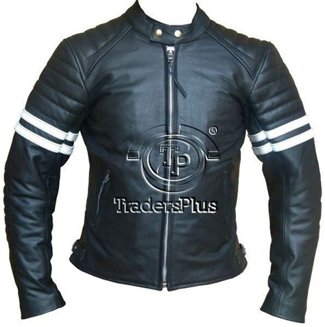 cowhide jackets cafe racer style retro motorcycle cowhide leather jacket