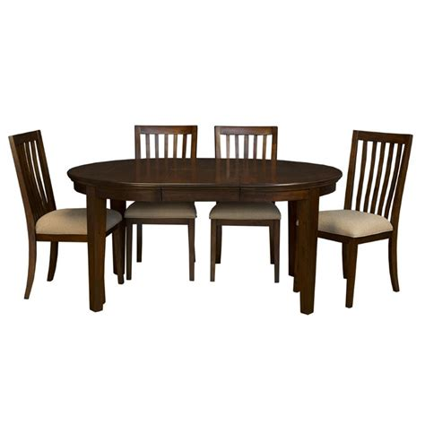Extendable Dining Sets by A America Westlake 5 Piece Oval Extendable Dining Set In