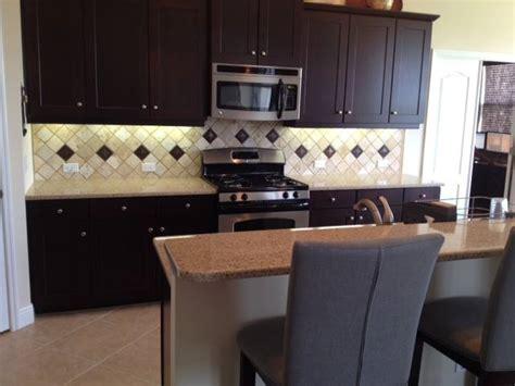 chiaro tile backsplash diagonal 4 215 4 tumbled chiaro backsplash bradenton florida