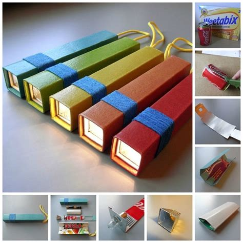 Useful Things To Make Out Of Paper - flashlight 31 things you can make out of cereal boxes