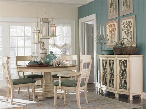 bassett dining room moultrie park round dining table by bassett furniture