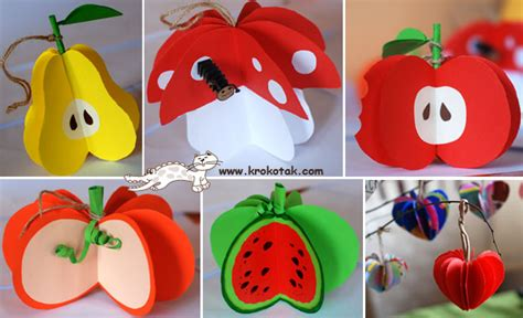 How To Make Fruit Out Of Paper - krokotak paper fall fruits