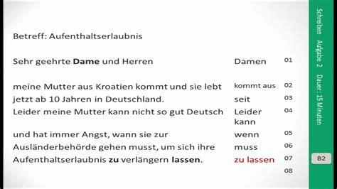 Reklamation Brief B1 pr 252 fungsvorbereitung zertifikat b2 aufgabe schreiben lernen learn german