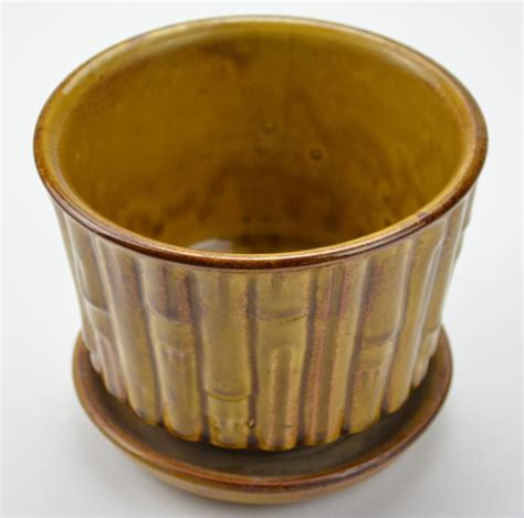 Mccoy Planters Value by Mccoy Beige Vintage And Collectible Pottery Bamboo Planter