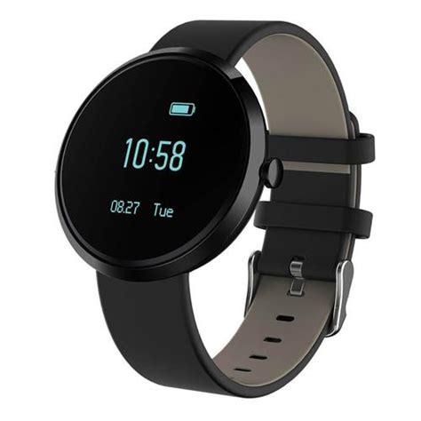 V06 Bluetooth 4.0 Heart Rate/Blood Pressure Monitor Smart Watch Black