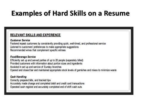 soft skills resume exle search presentation