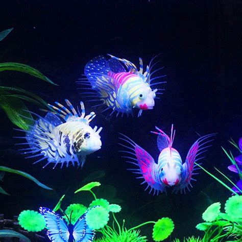 Fish Glow In The glow in the artificial aquarium lionfish ornament