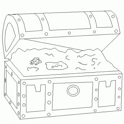 free printable treasure chest template treasure box coloring pages