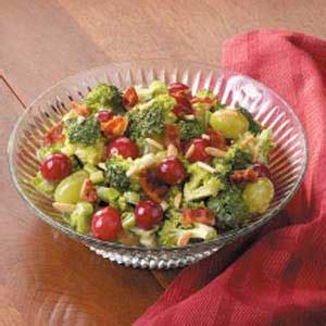 fresh grape broccoli salad recipe taste of home