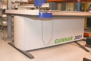 C1077 Xl used gunnar 601 gunnar 3001 xl m cmc computerized mat cutter