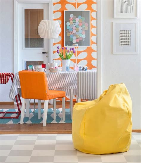 bright orange bean bag chair 35 best mellow yellow images on covers