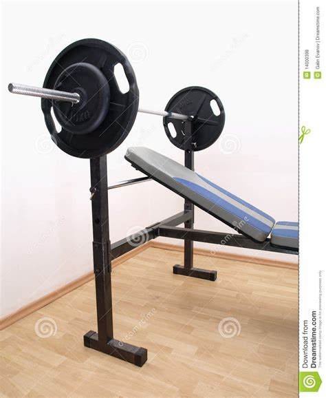 weights for bench press bench press with weights royalty free stock photos image