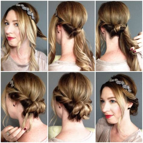 headband tuck hairstyle headband hair tuck pictures photos and images for