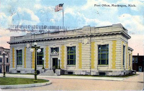 Post Office Muskegon Mi by Postcards From Muskegon County Michigan