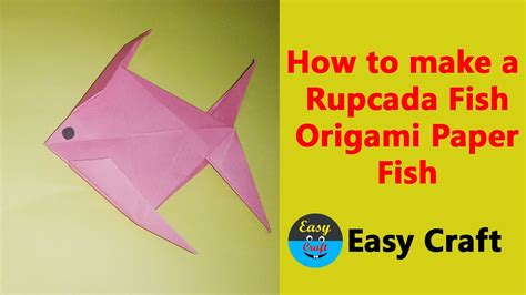 how to make a rupcada fish origami paper fish