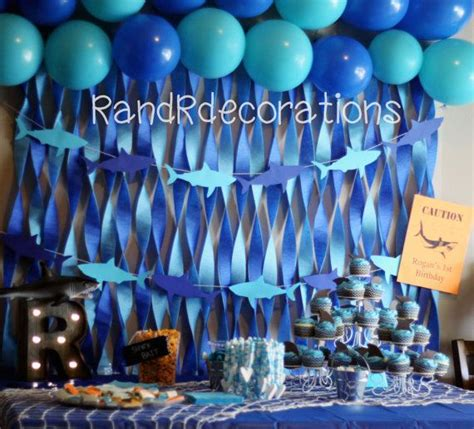 baby shark themed party best 25 1st birthday decorations boy ideas on pinterest