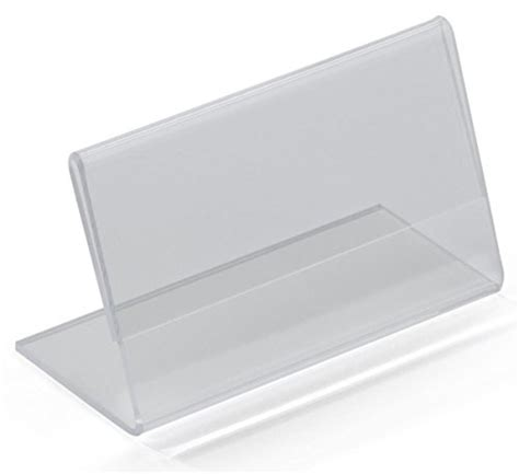 name tag holder design set of 50 clear acrylic name tag tents for business cards