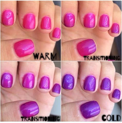 changing color nails opi mood changing nail lechat mood color changing