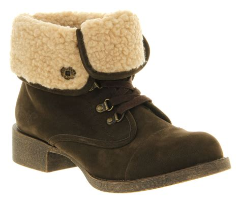 womens blowfish karona ankle boot brown fawn boots ebay