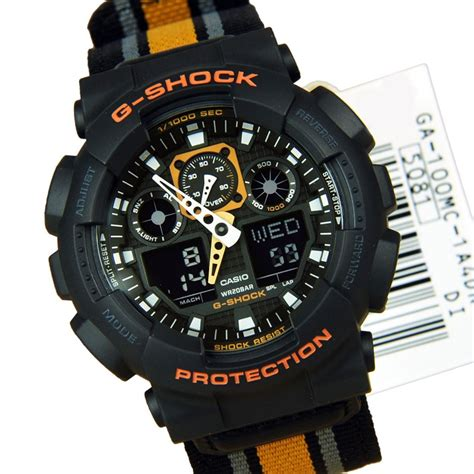 casio g shock ga100 1a casio analog digital g shock sport mens ga 100 1a4