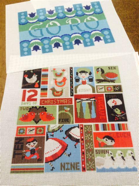 modern twelve days of christmas modern needlepoint needlepoint kits and canvas designs