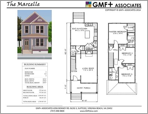 Infill House Plans by Painted For Narrow Infill Lot Gmf