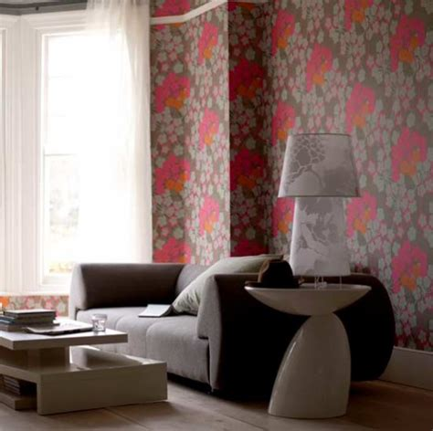 Wallpaper Living Room by Bold Floral Wallpaper Living Room Living Rooms