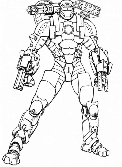 ironman 2 coloring pages az coloring pages