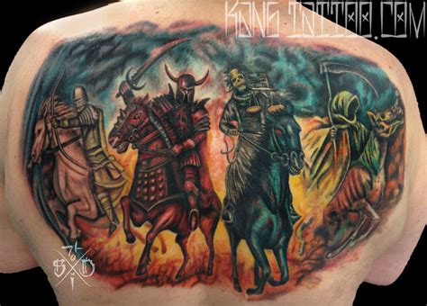 the four horsemen tattoo designs four horsemen of the apocalypse by kang of skin ink