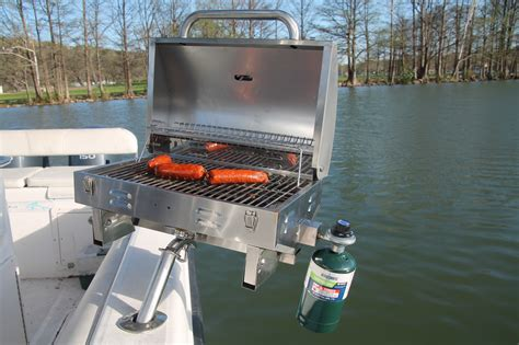 grill on a pontoon boat boat grill stainless steel marine grill mounts in fishing