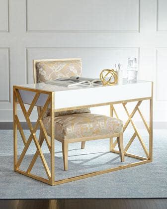 white and gold writing desk nova white and gold rectangular writing desk