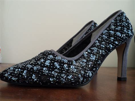 beaded high heel shoes vintage marino womens beaded high heel dress shoes sz 6m