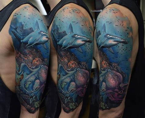 ocean sleeve tattoo designs 23 amazing scenery