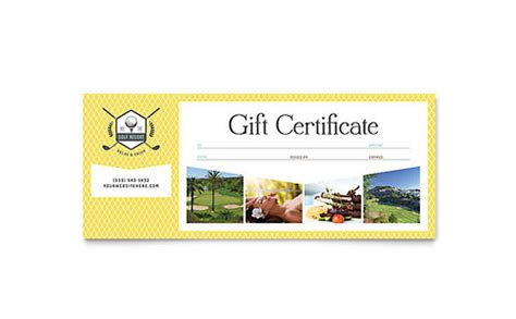 Sports & Fitness Gift Certificates   Templates & Designs