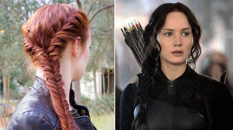 hair tutorial  katniss  braid  mockingjay
