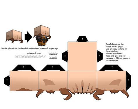 Headcrab Papercraft - papertoy gordon freeman paper fr