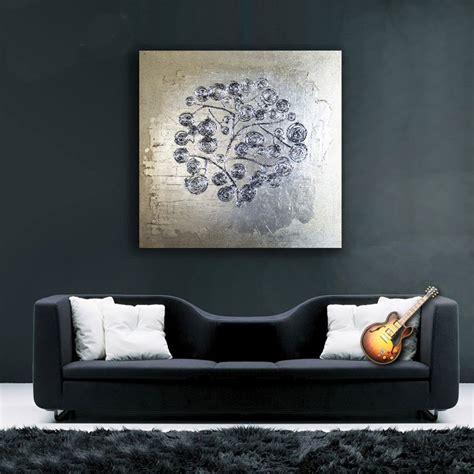 ikea cuadros modernos estudio delier cuadro rama plata 100x100