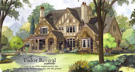 Tudor Style House Plans by Stephen Fuller Designs Tudor Revival Estate With Two