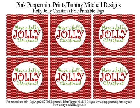 holly jolly christmas printable tags freebie free printable christmas tags have a holly jolly