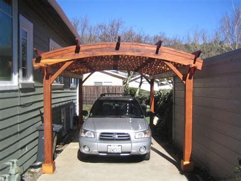 Pergola Style Carport by Arched Pergola Kits Redwood Arched Garden Pergolas